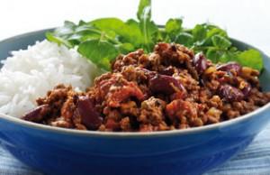 Chili Con Carne en rijst